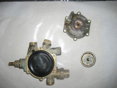 чистка фильтра газовой колонки