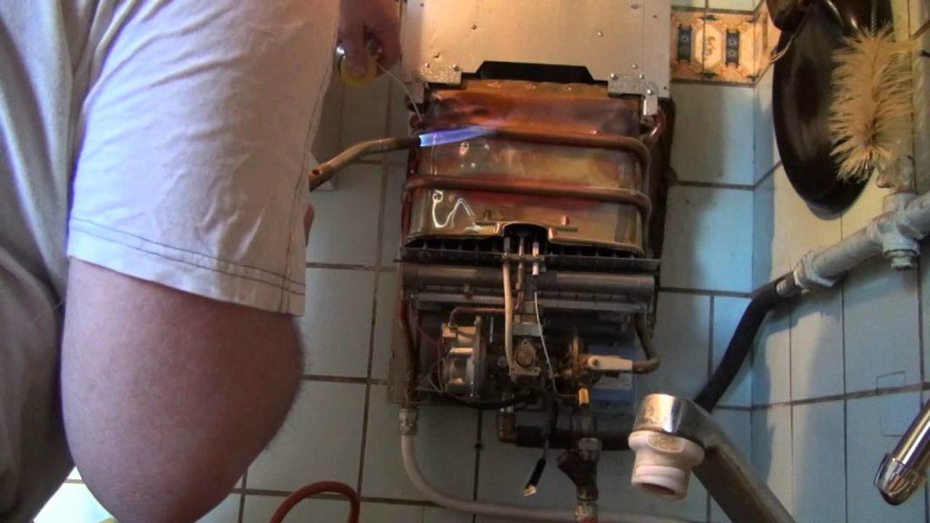 пайка теплообменника газовой колонки