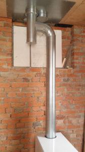 установка дымохода для напольного газового котла