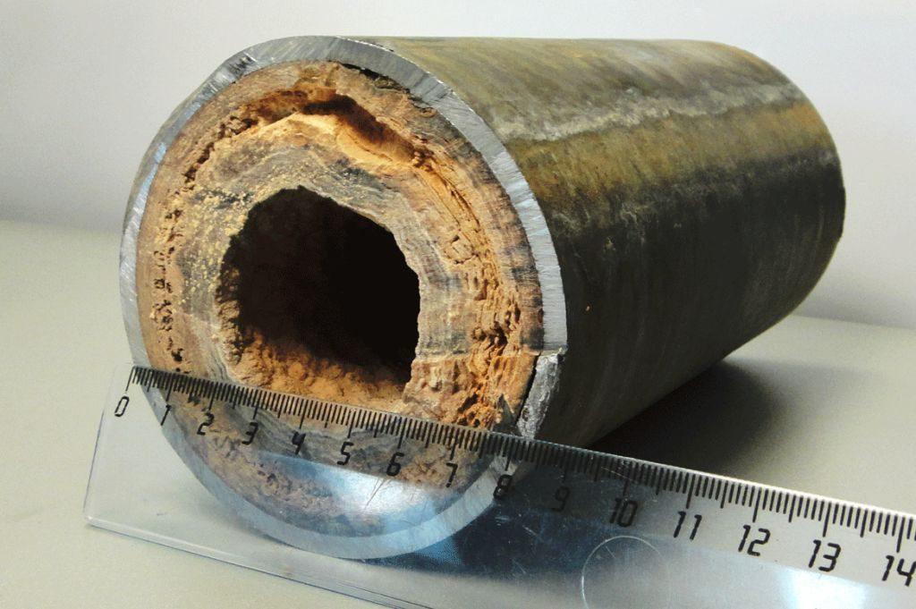 Накипь в теплообменнике и отходящих от него трубок